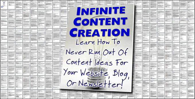 Infinite Content Creation Email Course