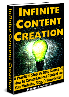 Infinite Content Creation - A Practical Step-By-Step Course On How To Create Endless Content For Your Website Or Blog!