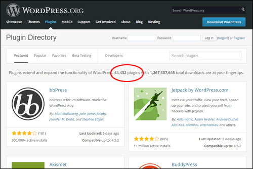 Access thousands of and themes at no cost from the official WordPress Plugin Repository